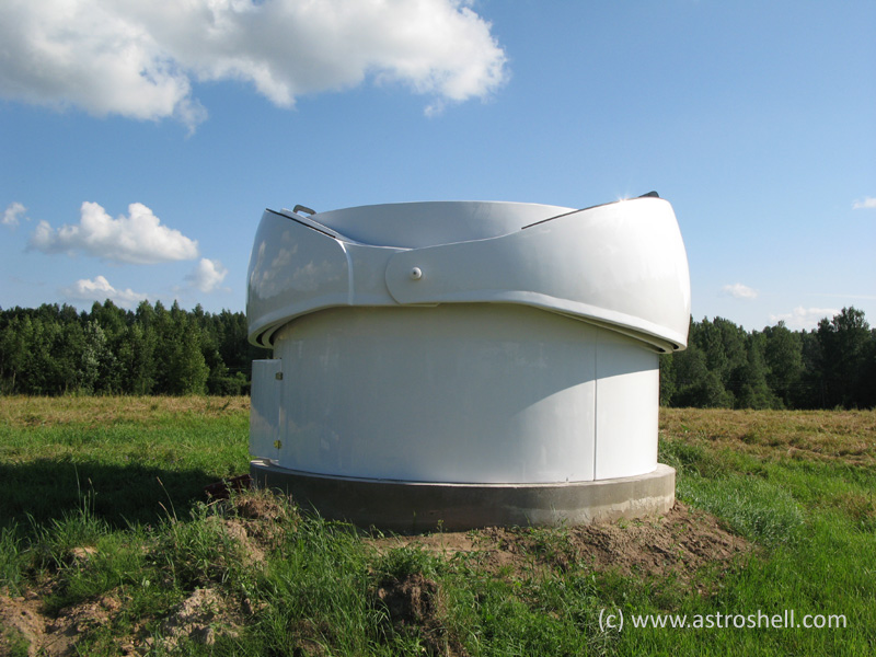 Buy Astroshell clamshell observatory dome in Latvia