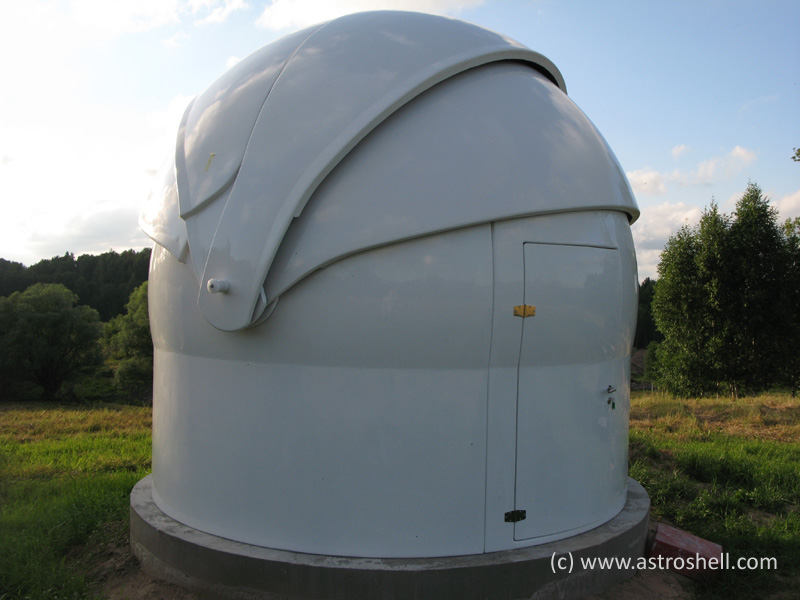 Buy Astroshell clamshell telescope dome in Latvia